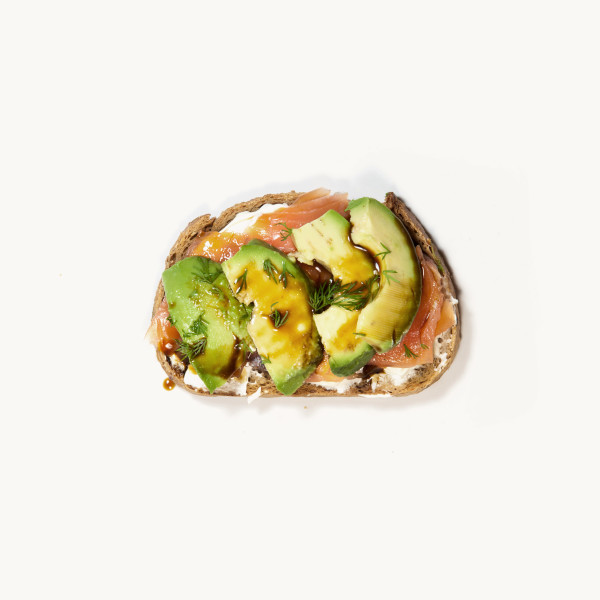 Tartine saumon-avocat