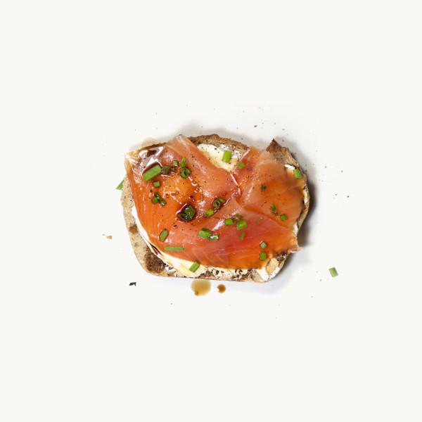 Tartine de fromage frais & saumon fumé