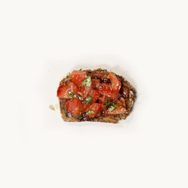 Tartine tomates-basilic